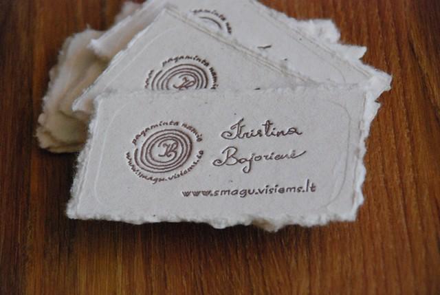 Pagaminta namie vizitine kortele homemade business card for How to make homemade business cards