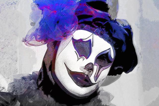 la maschera del clown