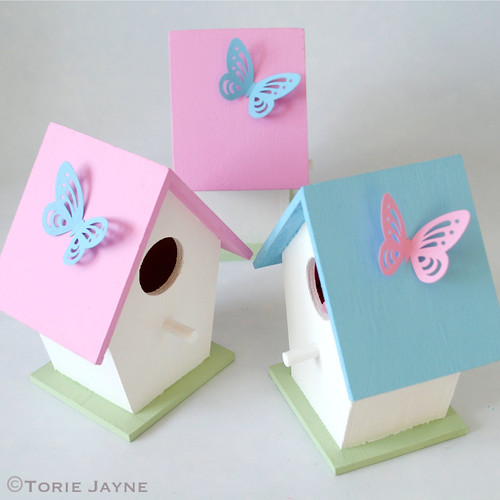 Easter Bird Houses - Butterflies