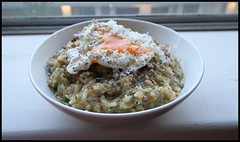 Chez Summers - Bacon & Poached Egg Risotto