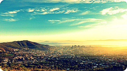 africa city light sunlight love sunrise vintage capetown
