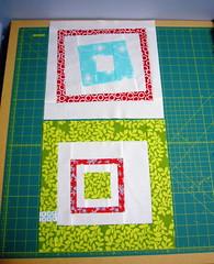Red & Aqua blocks for Holly