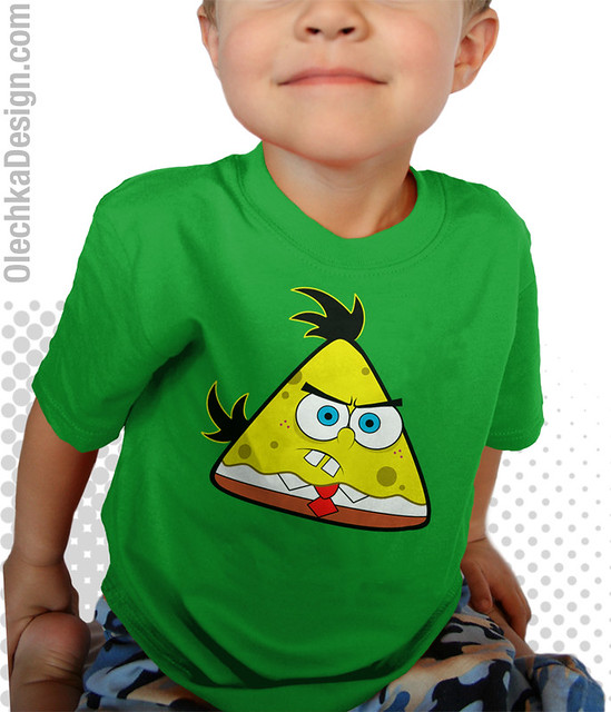 angry birds spongebob parody shirt for baby kids adults
