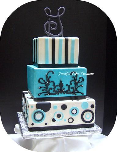 Retro Graduation Cake