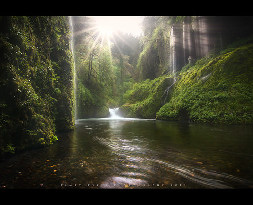 Veil of Light - Eagle Creek Canyon