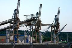 crane vessel (floating)(0.0), vehicle(0.0), transport(0.0), freight transport(0.0), jackup rig(0.0), construction equipment(0.0), port(1.0), industry(1.0), construction(1.0), oil field(1.0),