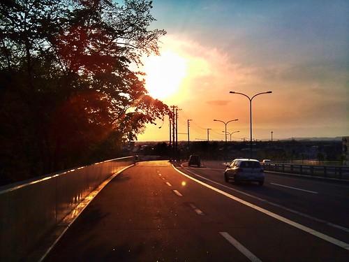sunset 夕焼け obihiro backlights 帯広 camera360