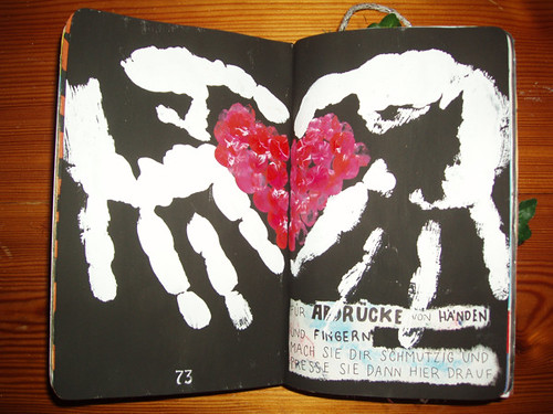 Wreck This Journal: This Page Is For Handprints Or Fingerprints.