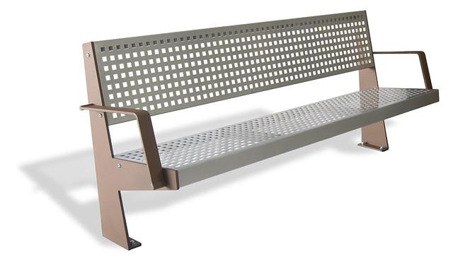 Banco con asiento y respaldo en pletina de acero ruzafa - Pletina de acero ...