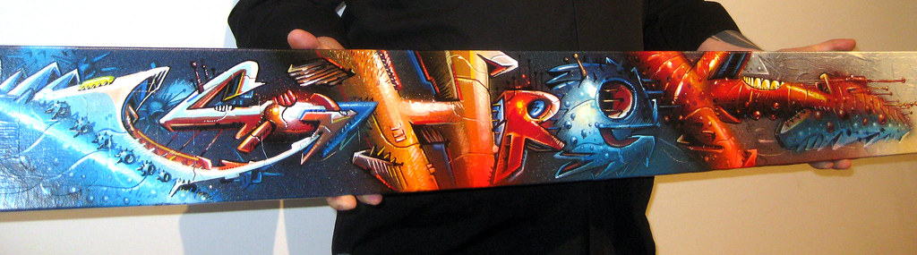 Name styled by SEAK on canvas