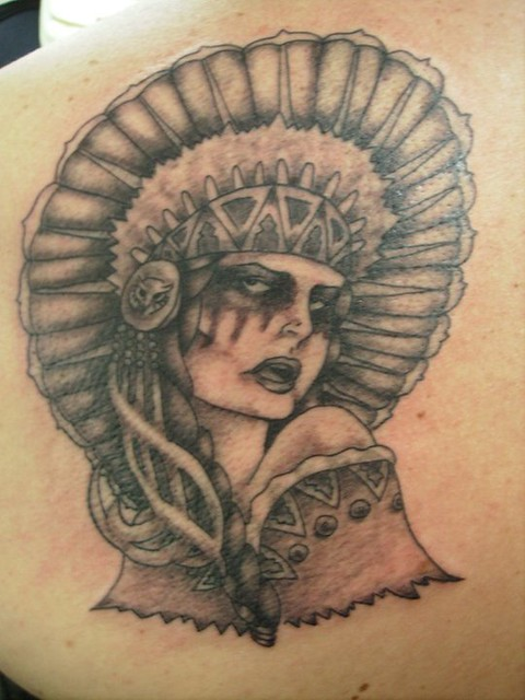 American Indian Woman Tattoo