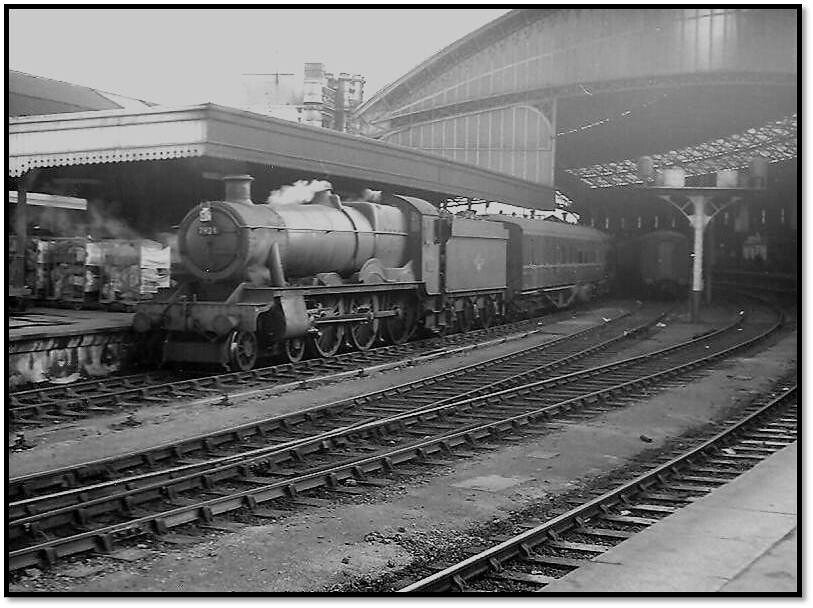 7924 waits at Platform 7 at Temple Meads on Thursday March 26 1964