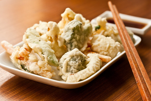 Tempura Vegetables with Dipping Sauce