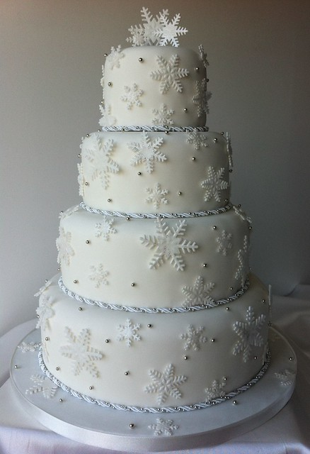 Winter Wonderland 4 Tier Wedding Cake Flickr Photo Sharing