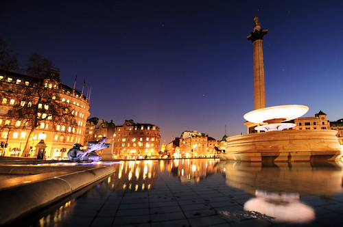 Trafalgar Square Blue Hour