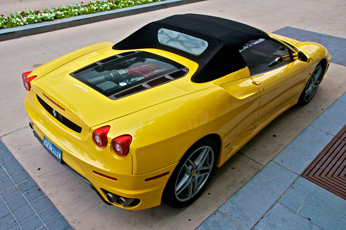 color sports car yellow canon rebel spider dallas italian texas view shot bright tx engine fast center ferrari victory exotic american airlines overhead f430 aac t2i