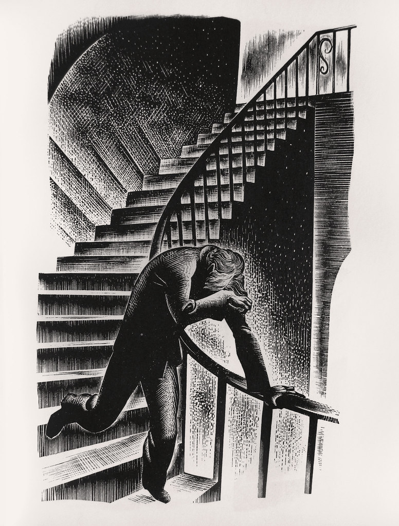 "Lynd Ward - Wood Engraving for ""Prelude to a Million Years"" 1933"