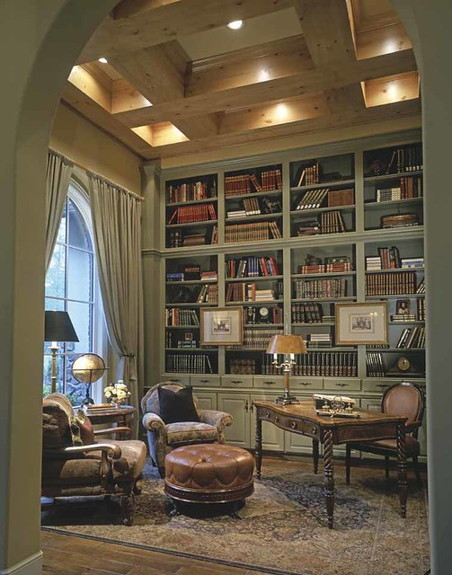 Amazing personal library interior design flickr photo for Private library design