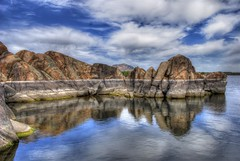 Boulders and Water at Willow Lake