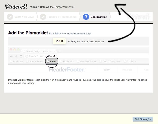 Pinterest - Add the Pinmarklet