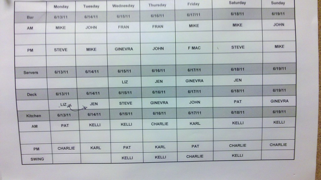 restaurant schedule philadelphia pa