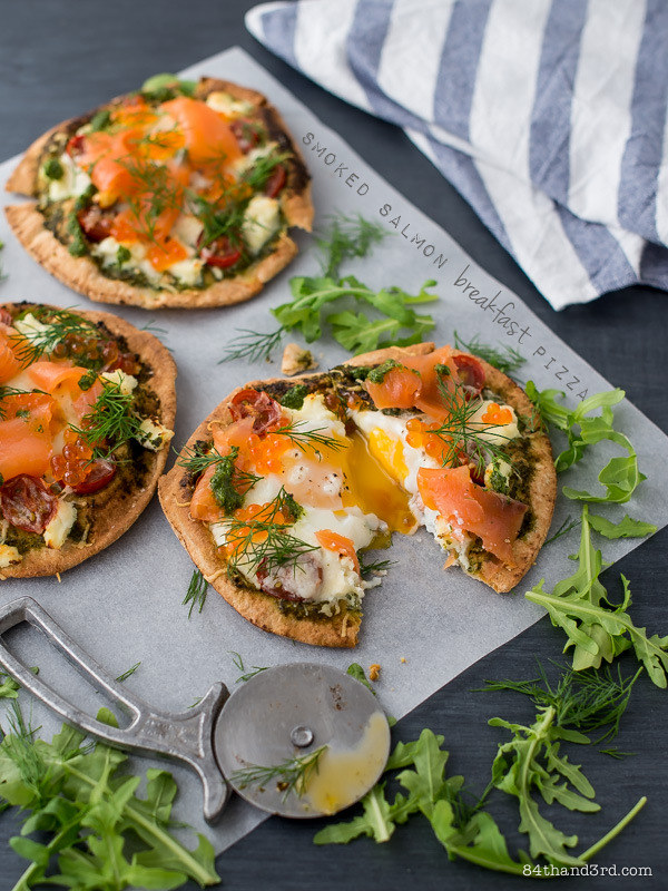 Smoked Salmon Breakfast Pizza