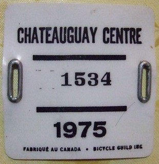 CHATEAUGUAY QUEBEC 1975--- BICYCLE LICENSE