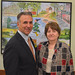 """Rep. Fred Camillo posed with Linda Ziac, a board certified case manager and dementia practitioner, after a discussion at the senior center titled: """"When your home poses a risk"""" to help seniors make their homes safer."""