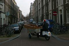 triporteur / bakbrommer / three-wheeler Amsterdam, Huidekoperstraat, 03-2011