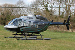 G-LVDC - 1989 build Bell 206L Long Ranger III, at the 2011 Cheltenham Festival