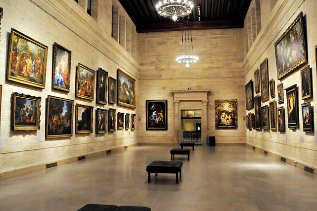 European Great Hall of Paintings at Boston Museum of Fine Arts
