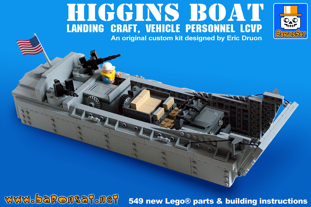 Lego D Day Landing Craft Higgins-boat model kit - a photo on ...