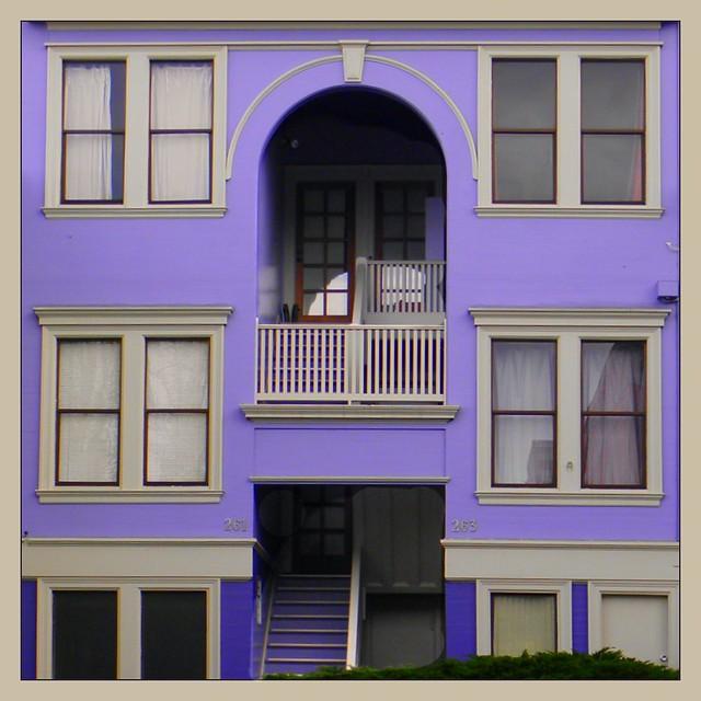 Purple Apartment Building San Francisco Flickr Photo
