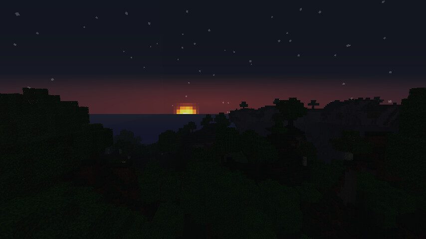Minecraft sunrise