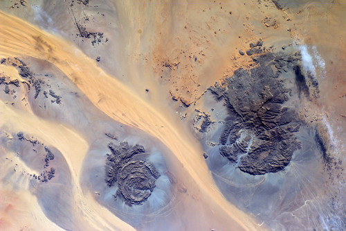 Rivers of sand on border between Libya, Egypt and Sudan