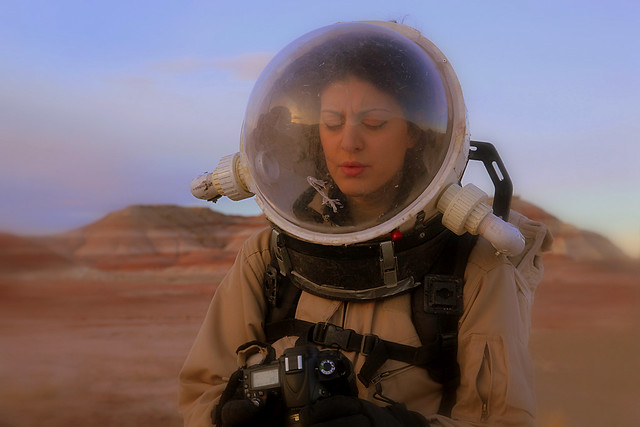 Conditions on MDRS were pre-reported to be tough but nobody warned me how hard it is to take photos with a spacesuit on!