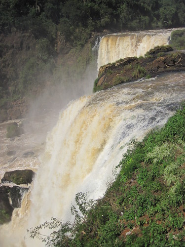 The great Salto de Monday waterfall in Paraguay