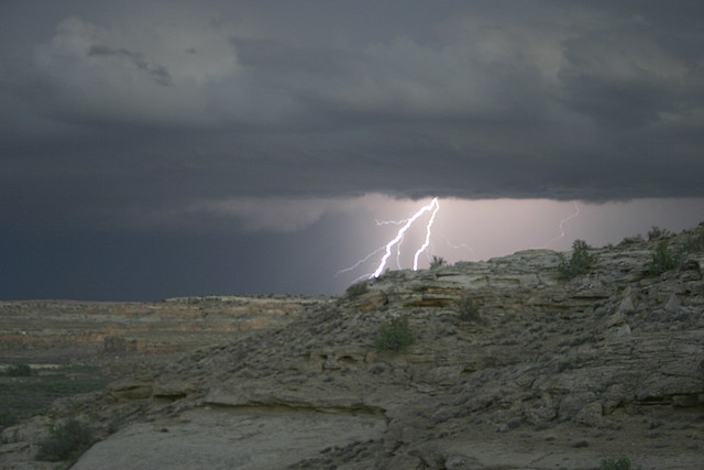 Lightning Strikes Near Peñasco Blanco