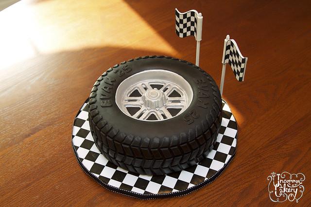 Pictures Of Custom Car Rim Birthday Cake
