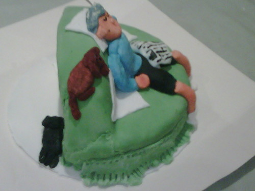 Side view finished cake