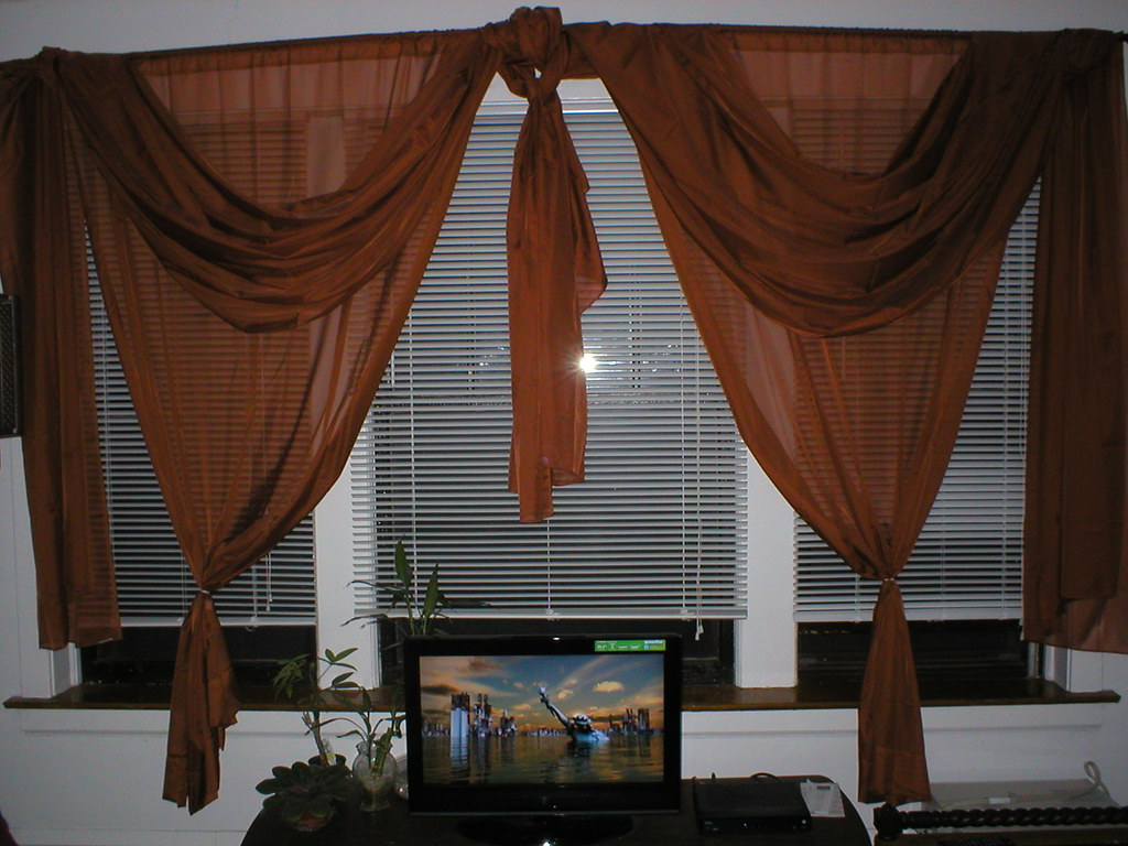 Living Room Drapes with Hardware