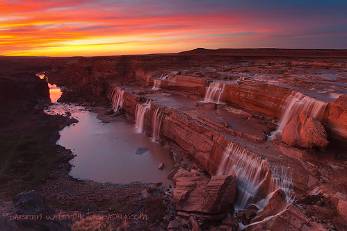 sunset arizona sky southwest nature canon landscape waterfall bravo desert scenic roadtrip secluded 1740l grandfalls littlecoloradoriver outdoorphotography darrenwhite southwestlandscapes darrenwhitephotography 5dmkii landscapesofthesouthwest