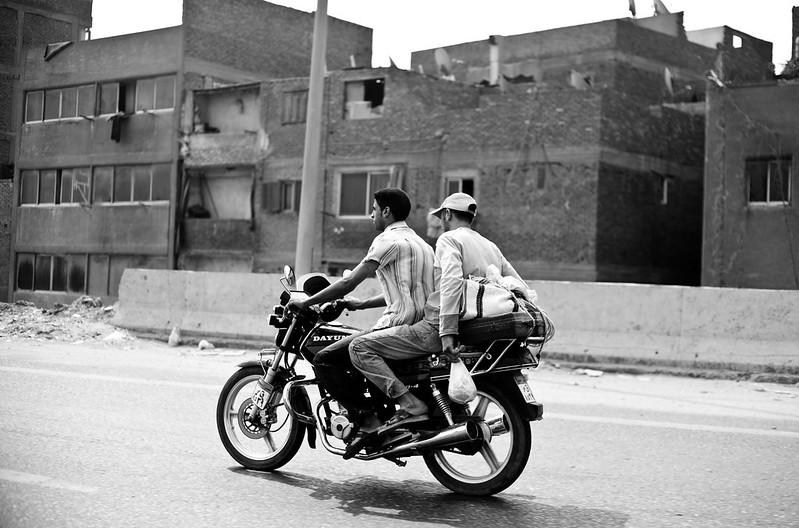 Bikers in Cairo