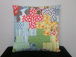 Plus patchwork pillow