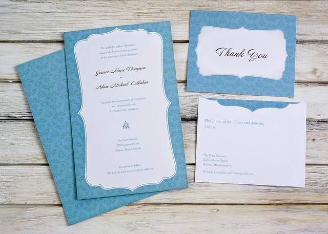 Vistaprint Invitations Wedding: Vistaprint Wedding Invitation - Blue/White #3