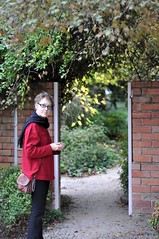 Donna in the cottage garden at Heide Museum of Modern Art