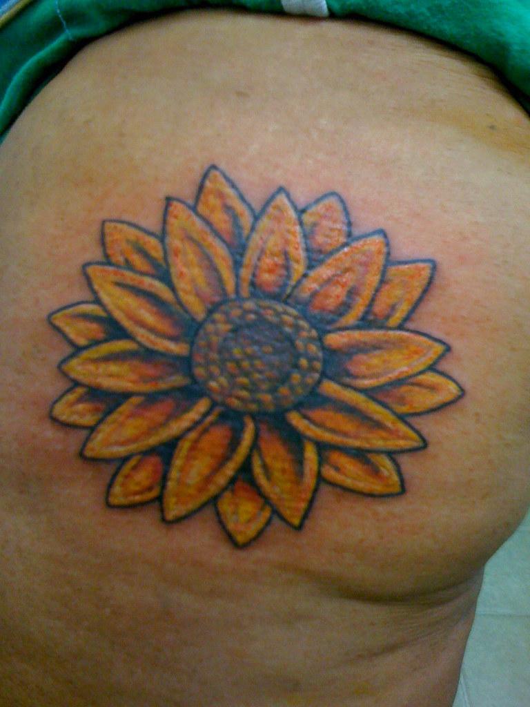 Custom Sunflower Tattoo Custom Sunflower Tattoo Custom Tat Flickr