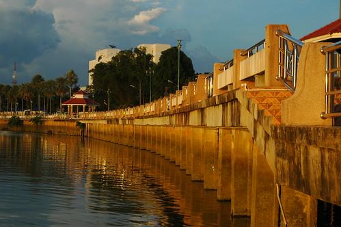 sunset water thailand dock goldenhour