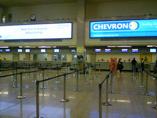 Check in desks at Malta Airport