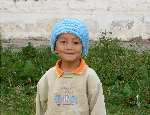 kid with funny hat